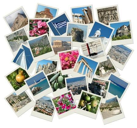 Go Greece - background with travel photos of famous landmarks Stock Photo - 8146449