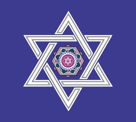 jeruzalem: Joodse sterren design - Vector illustratie
