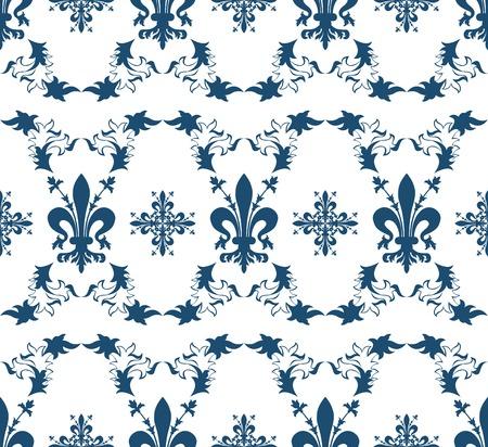 fleurdelis: Seamless blue royal texture Illustration
