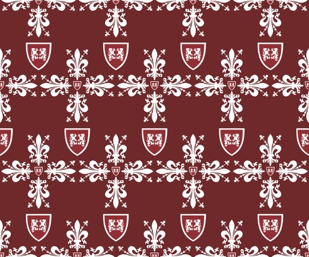 Seamless brown victorian royal texture Vector