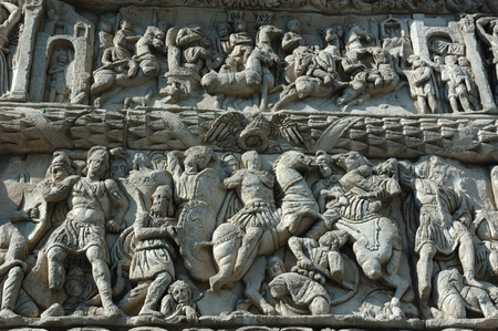 thessaloniki: Bas-relief of famous Arch of Galerius in Thessaloniki, Greece, unesco heritage site