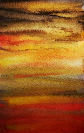 Dramatic watercolor bright hand painted art background for design