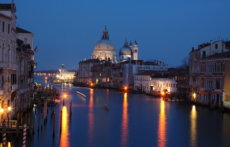 Venice grand canal - night view,Italy