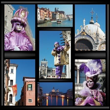 Old Venice collage with masks Stock Photo - 9354651
