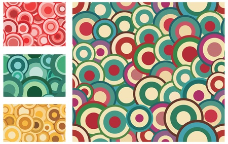 outmoded: Collection of seamless vector retro patterns with circles