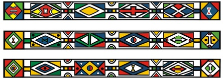 rectangle patterns: Set of traditional african ndebele patterns - vector illustration   Illustration