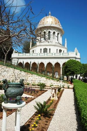 bahai: Bahai temple gardens,Haifa,Israel Stock Photo