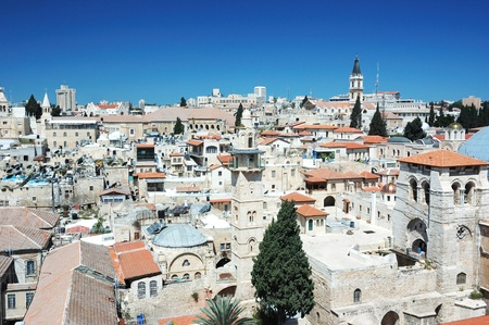 Old Jerusalem view from the Lutheran Redeemer s church tower photo