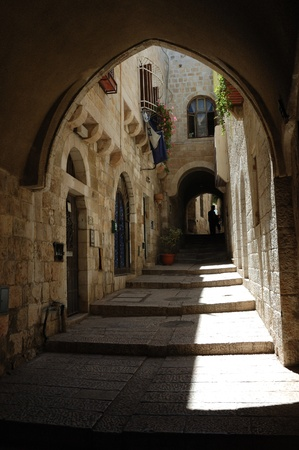 Street of old Jerusalem,Israel photo