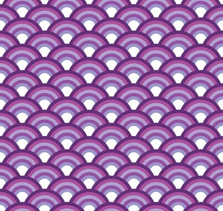 Escala de peces japoneses textura transparente Ilustración de vector