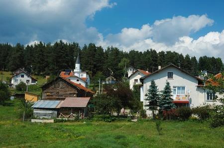 bulgaria: Jundola village in Rhopodi mountains, Bulgaria Stock Photo