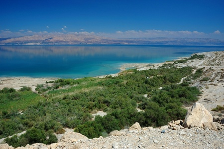 arava: Panorama of Dead Sea and Arava desert, Israel