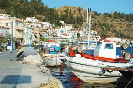 poros: Poros Island,Greece, August 6, 2011 -  Poros island -  popular tourist place in Aegean sea.Island daily receives thousands of tourists