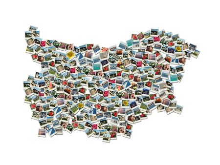 Map of Bulgaria - collage made of travel photos with famous bulgarian landmarks Stock Photo - 11913139