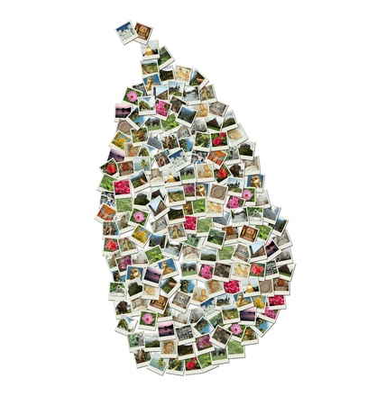Map of Sri Lanka - collage made of travel photos Stock Photo - 11913140