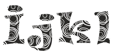 alphabetical letters: lliteras - i,j,k,l Illustration