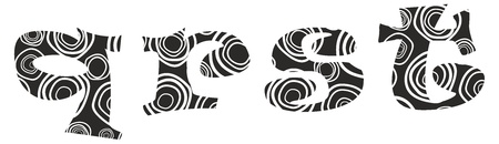Hand-drawn vector lliteras q,r,s,t - alphabet Zdjęcie Seryjne - 12491680
