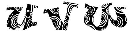Hand-drawn vector lliteras u,v,w- alphabet