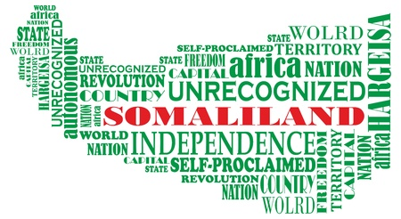 somaliland: word map of unrecognized country Somaliland in Africa