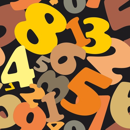 0 6: Seamless texture made of numbers Illustration