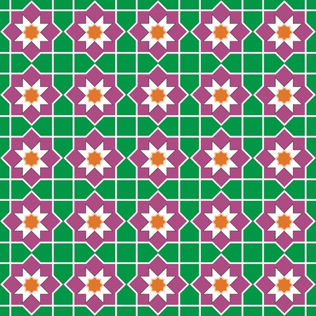 Seamless traditional floral vector islamic ornament - girih, texture Vector