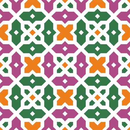 Naadloze traditionele bloemen vector islamitische ornament - girih, textuur 2