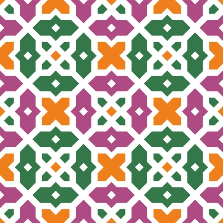 turkish: Seamless traditional floral vector islamic ornament - girih, texture 2