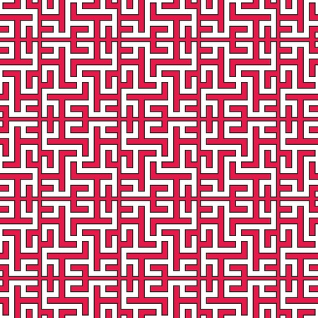 outmoded: Seamless traditional geometrical islamic ornament with swastika, vector texture