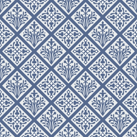 english rose: Seamless geometrical colorful Gothic floral pattern