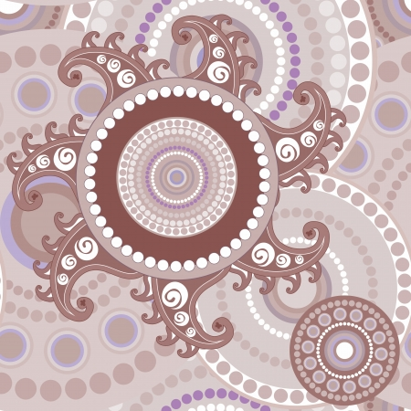 Vintage seamless paisley abstract texture for design Vector