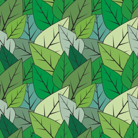 Green seamless abstract leaves vector texture Vector