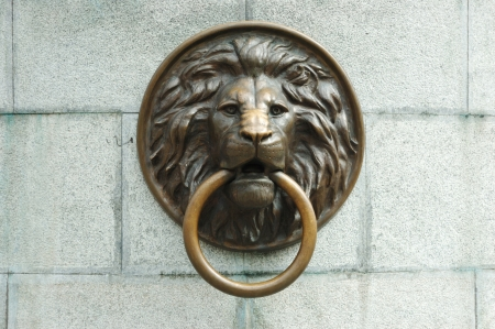 Lionhead old door knocker photo