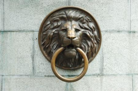 knocker: Lionhead old door knocker