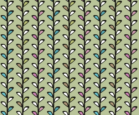 Vintage floral vector seamless texture with lianas Vector