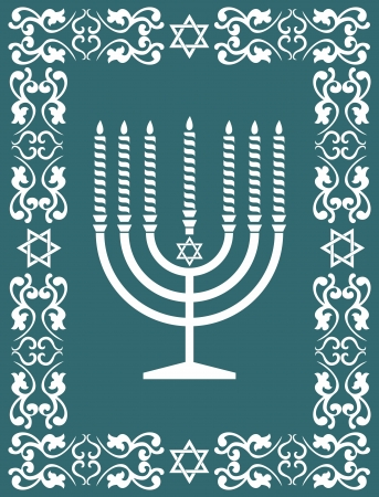 Jewish menorah design Vector