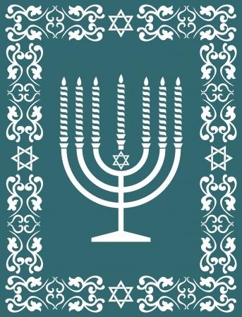 kabbalah: Jewish menorah design