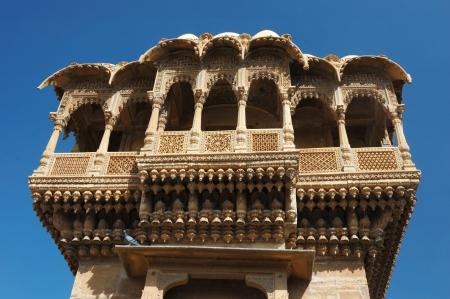 Haveli (private mansion) in Jaisalmer golden city,Rajasthan,India photo
