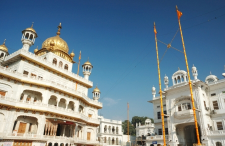 Inside famous Golden Temple - Harmandir Sahib, main sacred place of Sikh religion,Amritsar,Punjab, India photo