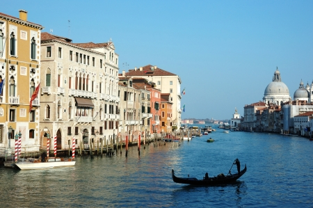sea mark: Venice Grand canal view,Italy, old city center