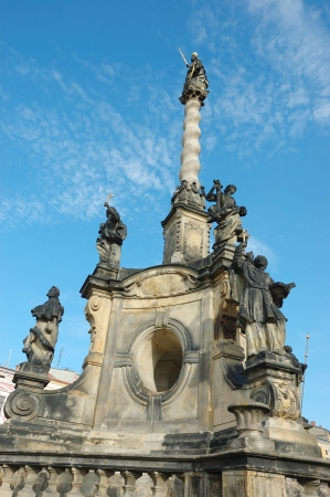 olomouc: Beautiful baroque calvary in Olomouc,Czech Republic