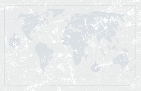 Grunge Old World Map Background Vector Illustration Royalty Free - Old us map background
