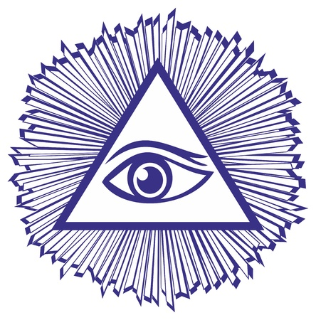 Eye Of Providence or All Seeing Eye Of God - famous mason symbol, vector illustration