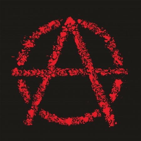 meanness: Grunge anarchy symbol , vector illustration