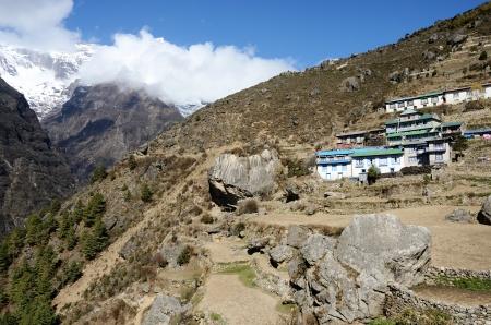 porter house: Namche Bazar - capital of sherpas ,Sagarmatha region,Nepal,Asia