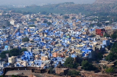 Jodhpur - second largest city in Rajasthan, India, view from Mehrangarh fort  It photo