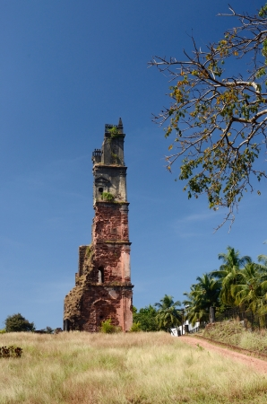 Ruins of St Augustine church in Old Goa - capital of Portuguese India photo