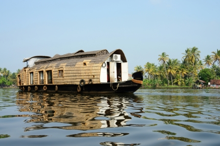 Tourist boat at Kerala backwaters,Alleppey,India photo