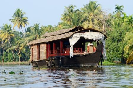 kerala backwaters: Tourist boat at Kerala backwaters,Alappuzha,India Stock Photo