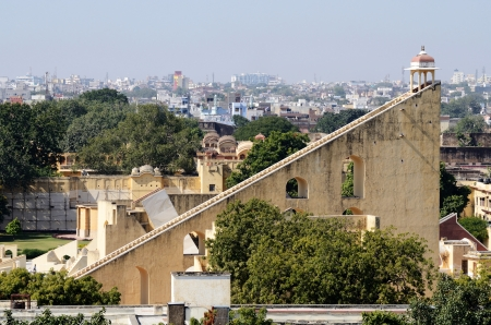 Jantar Mantar , medieval observatory in Jaipur, India View of  from Hawa mahal palace photo