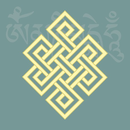 auspicious: Endless knot,one of eight auspicious buddhist religious symbols